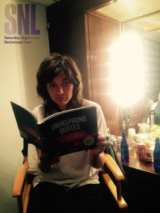 Courtney Barnett reads The book of Uninspiring Quotes before performing on Saturday Night Live